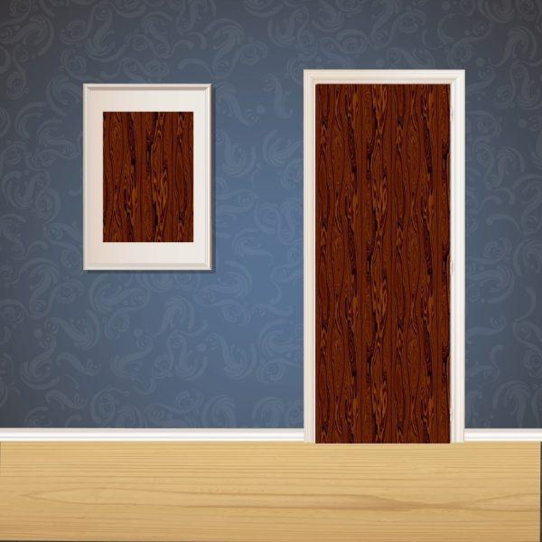 Dark Brown Wood Door SKT-D-10