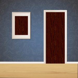 Maroon Brown Wood Door SKT-D-10_1