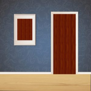 Red Wood Door SKT-D-16