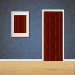 Red Wood Door SKT-D-16_1v