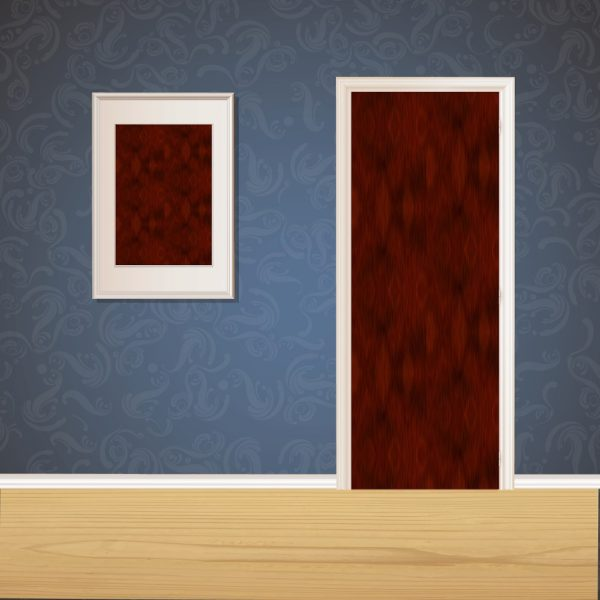 Dark Wood Door SKT-D-18