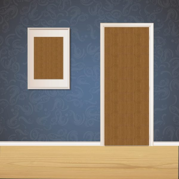 Paper Brown Wood Door SKT-D-21