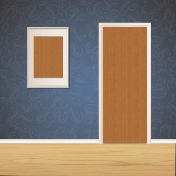 Paper Brown Wood Door SKT-D-21_1