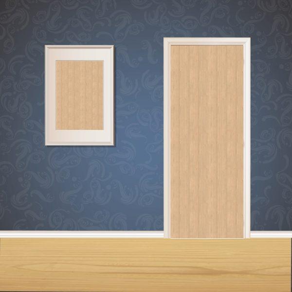 Egg White Wood Door SKT-D-22_1