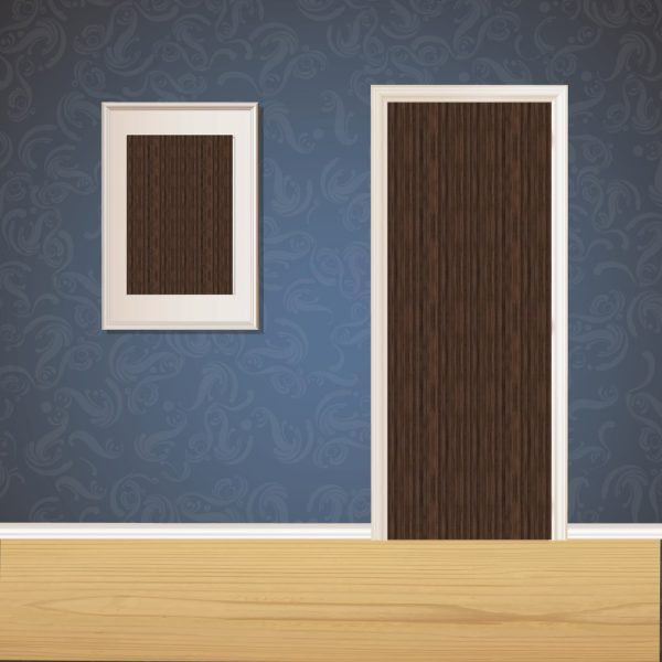 Chocolate Brown Wood Door SKT-D-23