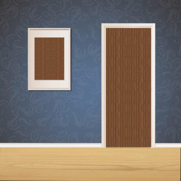 Chocolate Brown Wood Door SKT-D-23_1