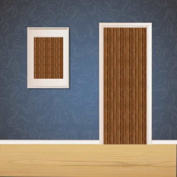 Chocolate Wood Door SKT-D-24_1