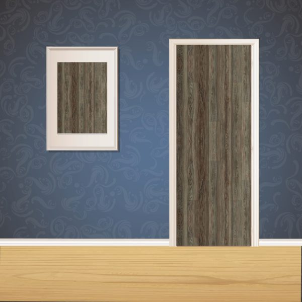 Furnished Brown Wood Door SKT-D-26