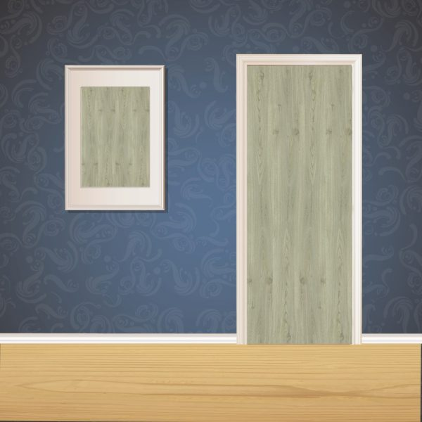 Dull Gray Wood Door SKT-D-32_1