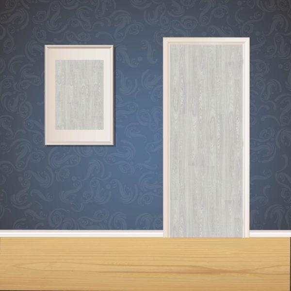 Premium Gray Wood Door SKT-D-35
