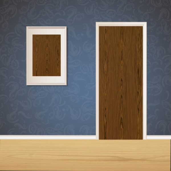 Dark Brown Wood Door SKT-D-41
