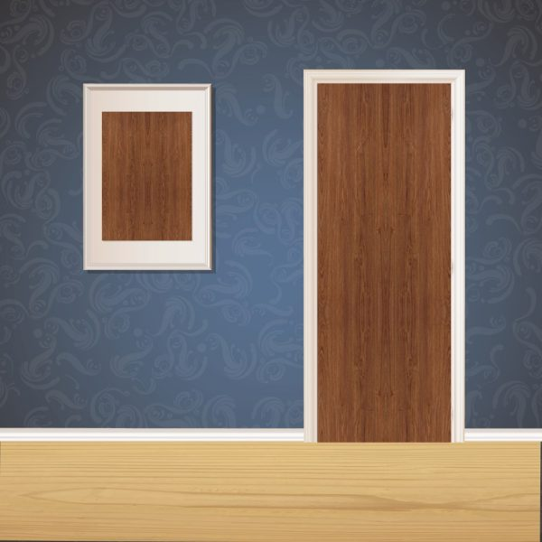Dark Wood Door SKT-D-43