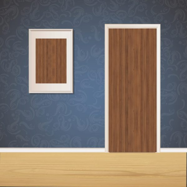 Dark Wood Door SKT-D-44