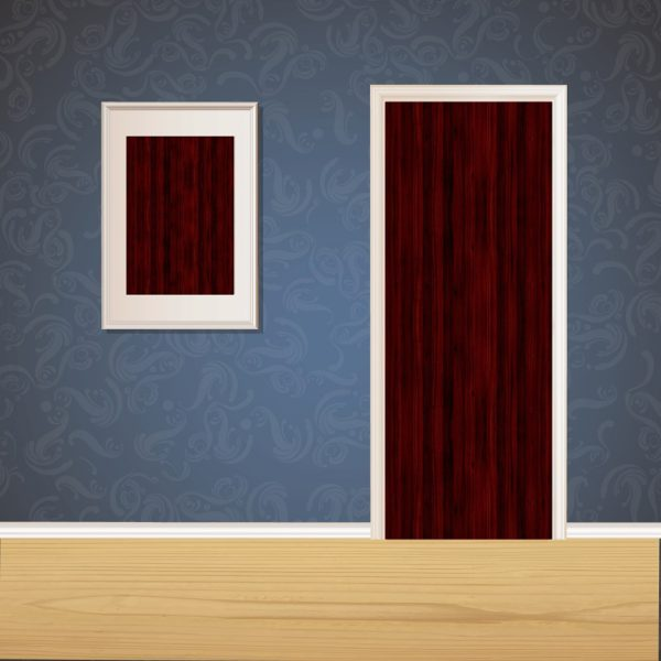 Wine Red Wood Door SKT-D-45