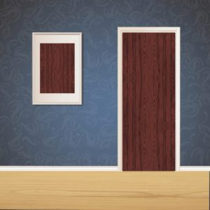 Butterscotch Red Wood Door SKT-D-47