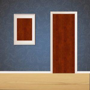 Mahogany Wood Door SKT-D-5