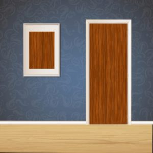 Brown Wood Door SKT-D-9
